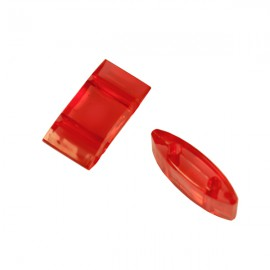 Carrier Beads 17x9mm Rood