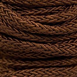 Gevlochten Koord 7mm Bruin