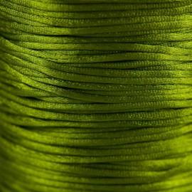 Satijnkoord 1,5mm Olivijngroen
