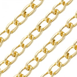 Schakelketting 3,4mm Goud