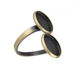 Ring Brons voor 12mm Plakstenen