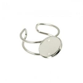 Ring Nickel Plated voor 12mm Plaksteen