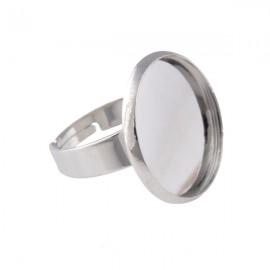 Ring Zilver voor 20mm Plaksteen