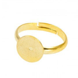 Ring Goud met 10mm plakvlak
