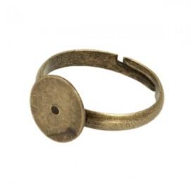 Ring Brons met 10mm plakvlak