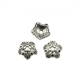 Kralenkapje Bewerkt 10mm Antiek Zilver