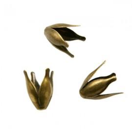 Kralenkapje Tulp 12mm Brons