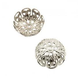 Kralenkapje Filigraan 20mm Antiek Zilver