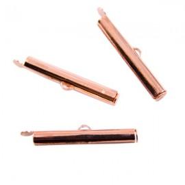 Eindklem Buisje 30x6mm Rosé Goud