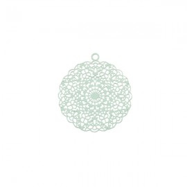 Bohemian Hanger Rond Licht Turquoise