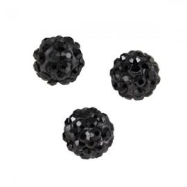 Polymeerkraal 10mm Zwart