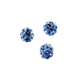 Polymeerkraal 6mm Light Sapphire