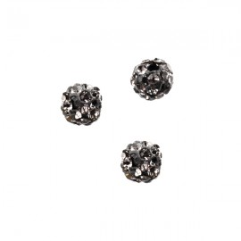 Polymeerkraal 6mm Black Diamond