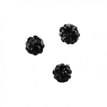 Polymeerkraal 6mm Jet Black