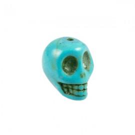 Doodshoofd kraal 12mm Turquoise