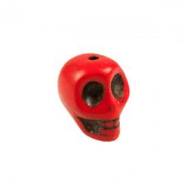 Doodshoofd kraal 12mm Rood