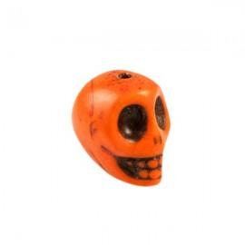 Doodshoofd kraal 12mm Oranje