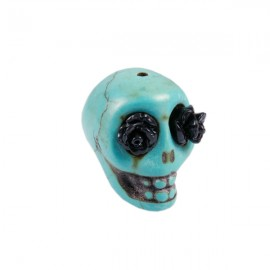 Doodshoofd kraal 18x23mm Turquoise