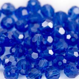Facet Rond 6mm Saffierblauw
