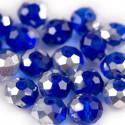 Facet Rondel 8x6mm Blue Silver