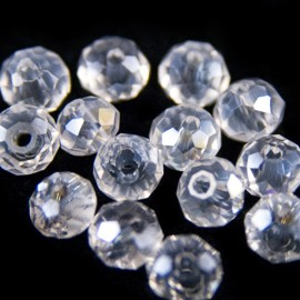 Facet Rondel 4x3mm Crystal AB