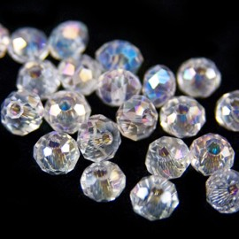Facet Rondel 3,5x3mm Crystal AB