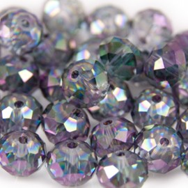 Facet Rondel 8x6mm Crystal Rainbow