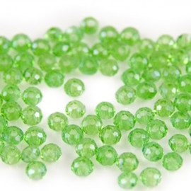 Facet Rondel 3x3,5mm Peridot