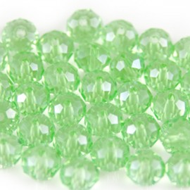 Facet Rondel 6x4mm Chrysolite