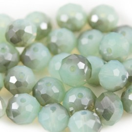 Facet Rondel 8x6mm Chrysolite Special