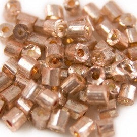 Chunky Bugles 6mm Rosegold Metallic