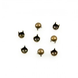 Studs Rond 4mm Brons