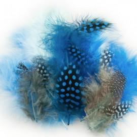 Maraboe en Parelhoen Mix Blauw