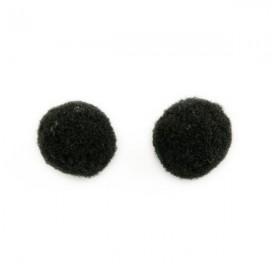 Pompon 15mm Zwart