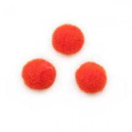 Pompon 10mm Oranjerood