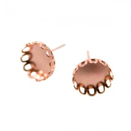 Oorstekers Schulprandje 10mm Rose Gold