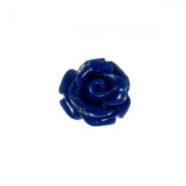 Kunststof Roosje 7mm Donkerblauw