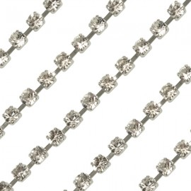 Cup chain zilver 2mm Crystal