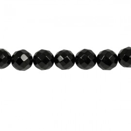 Facet Rond 10mm Onyx