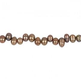 Zoetwaterparel Rijst 7x5 mm Lila-Brons
