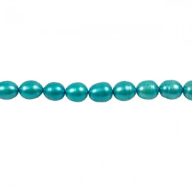 Zoetwaterparel Rijst 7 mm Turquoise