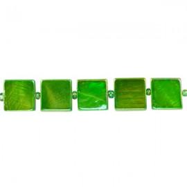 Schelpkraal Vierkant Groen 10x10mm