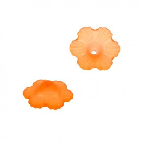 Lucite Bloem 12mm Mat Oranje