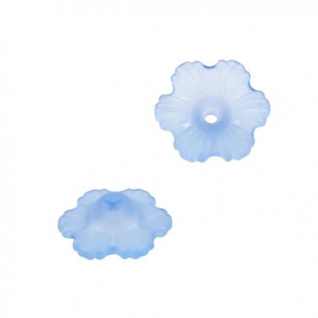 Lucite Bloem 12mm Mat Lichtblauw