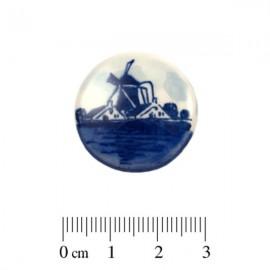 Cabochon Delfts Blauw Rond Molen ±25mm