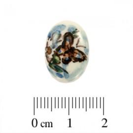 Cabochon Aardewerk Ovaal Vlinder ± 17,5x12,5mm