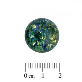 Glas Cabochon Foil Groen 20mm