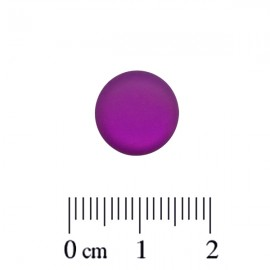 Polaris Cabochon Rond 12mm Matte Amethyst