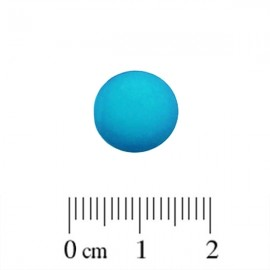Polaris Cabochon Rond 12mm Matte Blue Zircon