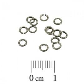 Montagering 4mm Mat Antiek Zilver